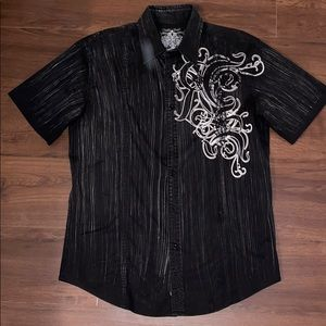 Roar men's medium button short sleeve